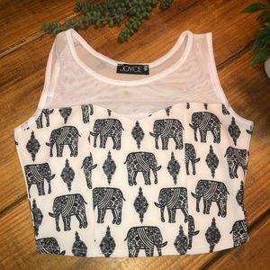 Elephant Dress Crop Top